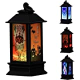 U/D Vintage Outdoor Candle Lantern Decorative with LED Light Halloween Candle LED Tea Light for Halloween Decoration Tabletop