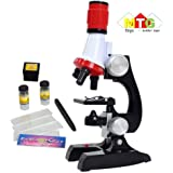 METRO TOY'S & GIFT  Kids Educational Microscope with LED 100 x 400 x and 1200x Magnification Science Kits