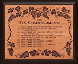 The Ten Commandments Grape Vine 28 x 35.5 Wood Twotone Carved Wall Mounted Plaque