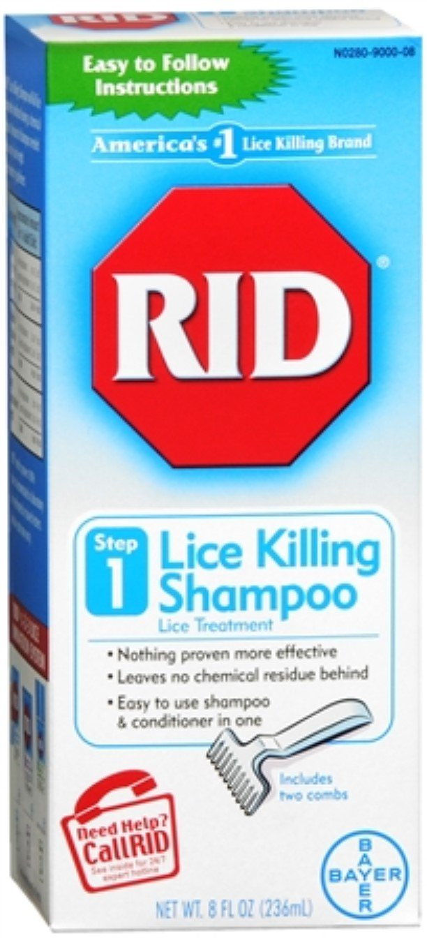 RID Lice Killing Shampoo 8 oz (Pack of 3) by Rid