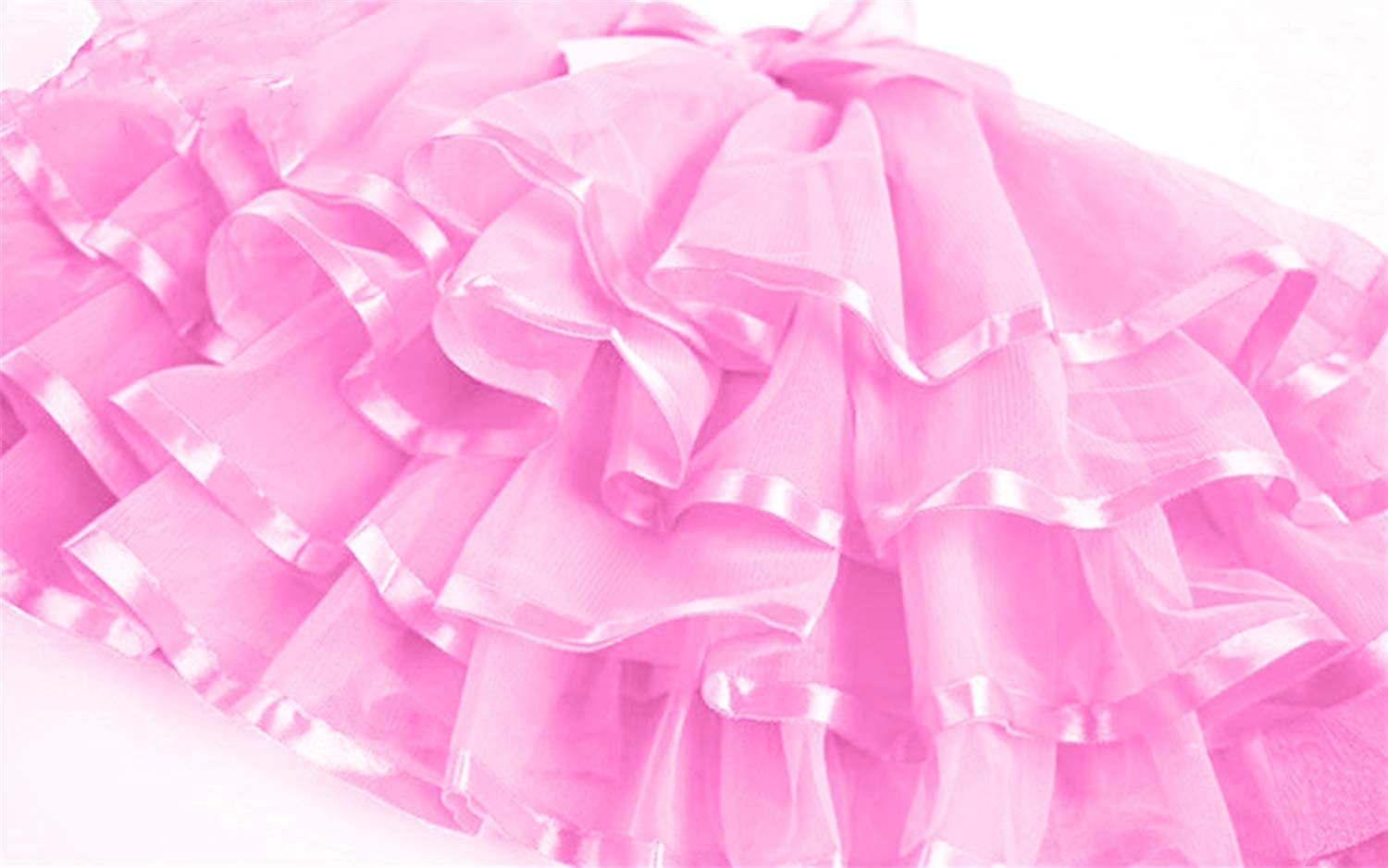 storeofbaby Little Big Girls Tulle Tutu Skirt 4-Layered Holiday Party Dress Up Skirts 2-13 Years