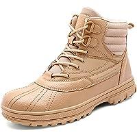 Botas tácticas Impermeables Botas Ligeras Impermeables con Cordones y Cremallera para Hombres Zapatos de Trabajo Oxfords