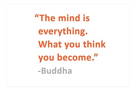 Buy Artstory Vinyl What You Think You Become Buddha Quote Wall