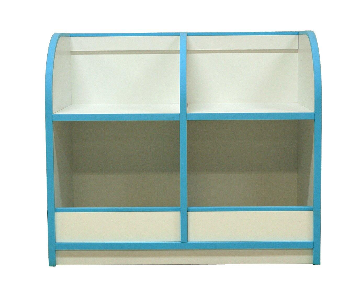 大川家具 岡製作所 おもちゃ箱 アンジュ 80cm幅 ブルー 179099 B00U2BRSFC