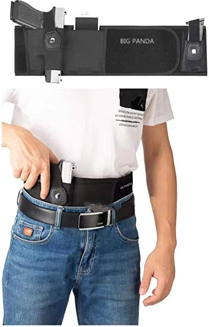 left Belly Band Holster for Concealed Carry Breathable Neoprene Waist Holster