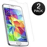 Pellicola Vetro Temperato Samsung Galaxy S5 Mini Coolreall® Pellicola Protettiva 2 Pack Film Screen Protector Ultra Resistente (0,25mm HD Alta trasparente)