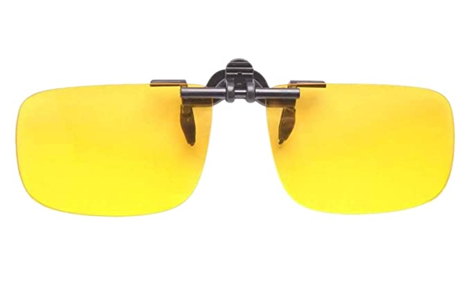 2a50e9a6a7 Polycarbonate Clip on Flip up Canary Yellow Enhancing Driving Glasses (4  size)