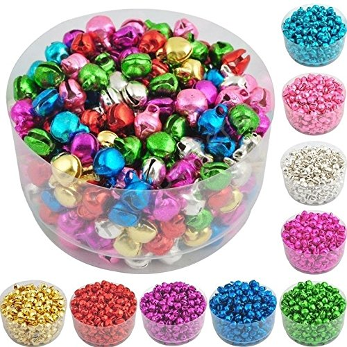 wyhui 100 Pcs Iron Jingle Bells Multicolor