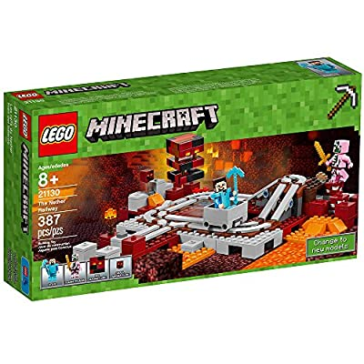 LEGO Minecraft The Nether Railway 21130: Toys & Games
