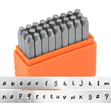 impressart basic bridgette lowercase letter metal stamp set