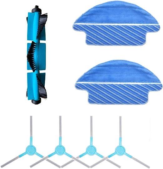 iAmoy Kit Accesorios de repuesto compatibles con Cecotec Conga 3090 Robot Aspirador,4 * Cepillo lateral + 2 * Mop Cloth + 1 * cepillo de rodillo: Amazon.es: Hogar