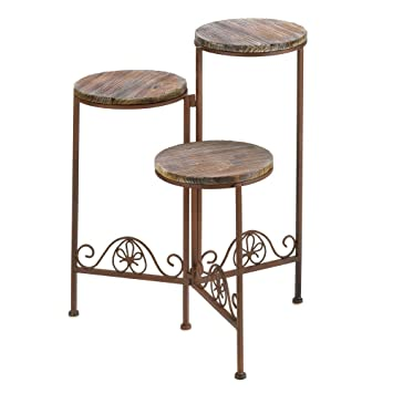 Amazon large outdoor planters rustic triple garden large large outdoor planters rustic triple garden large metal outdoor planter stand workwithnaturefo