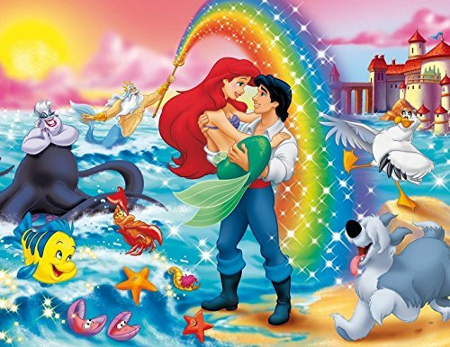 - The Little Mermaid Ariel Princess Edible Image Photo Cake Topper Sheet Birthday Party Event - 1/4 Sheet - 78905