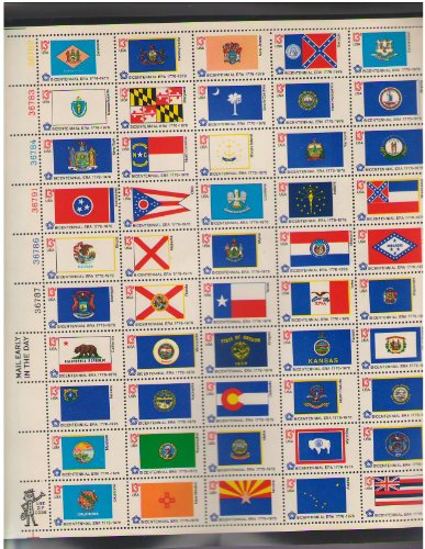 US Bicentennial State Flags Scott 1633-82 13 cent Set of 50 Stamps MNH