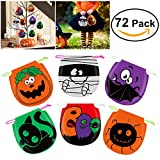 Toys : Halloween Candy Bags Drawstring Kids Trick or Treat Bags, Pack of 72