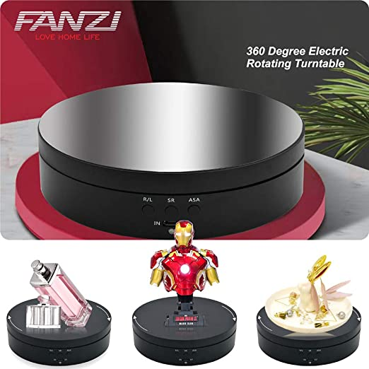 45°-360° High Power Electric Rotating Jewelry Stand Base Organizer Display