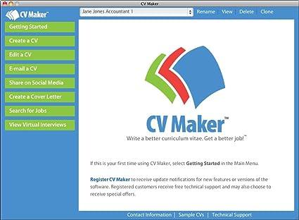 Amazon Com Cv Maker For Mac Download Software
