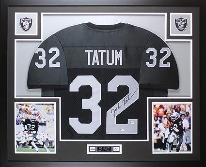 promo code 9f25b 73fce Jack Tatum Autographed Signed & Framed Black Raiders Jersey ...