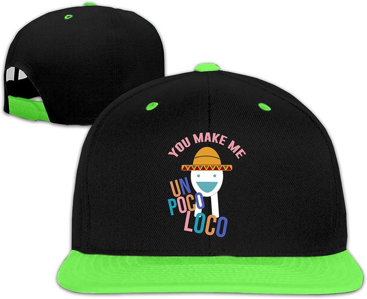 YGS Cool Child Hip Hop Baseball Cap Snapback Baseball Cap R-oblox You Make Me Un Poco Loco Design Gift