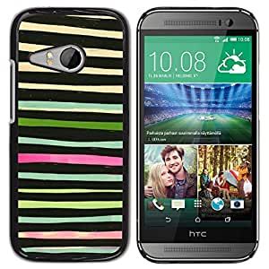 For HTC ONE MINI 2 / M8 MINI Case , Watercolor Abstract Green Black - Diseño Patrón Teléfono Caso Cubierta Case Bumper Duro Protección Case Cover Funda