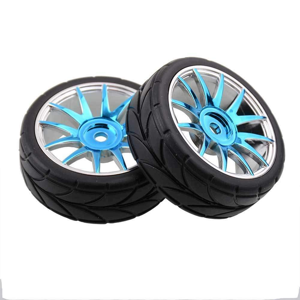 Toyoutdoorparts RC 82829 Plating Blue Complete (82827+82828) Fit HSP 1:16 On-Road Car