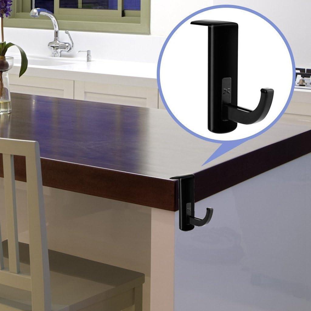 Black+White Homyl 2 Pack Headphone Headset Hanger Monitor Stand Holder Headset Stick-on