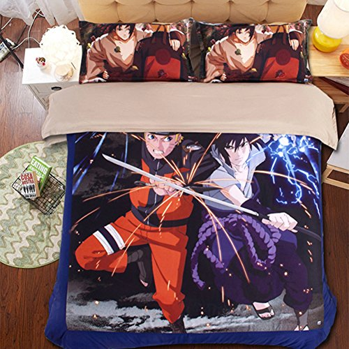 Japanese Anime Naruto Bedding Sets - Sport Do Polyester Home Textiles Best Gifts for Anime Fans Full 4PC