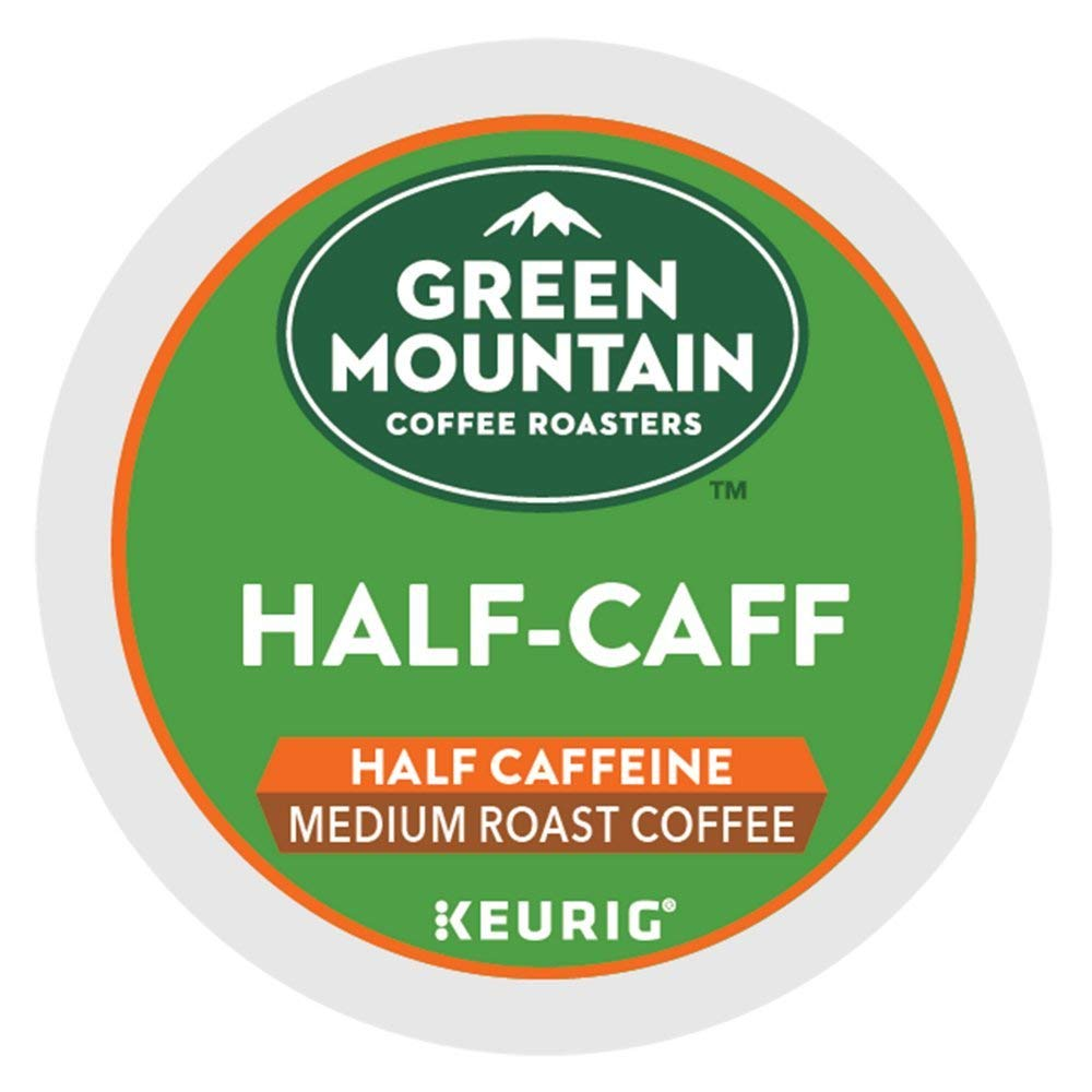 Green Mountain Coffee Roasters Half-Caff single serve K-Cup pods for Keurig brewers, 96 Count