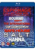 Espionage Collection Vol. 1 6-Disc Set ( The Bourne Identity / The International / The Interpreter / Safe House / Salt / Hanna ) [ Blu-Ray, Reg.A/B/C Import - Denmark ]