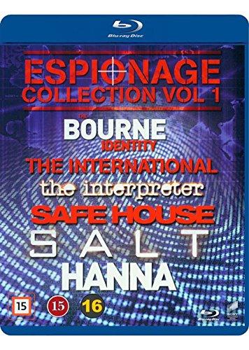 Espionage Collection Vol. 1 6-Disc Set ( The Bourne Identity / The International / The Interpreter / Safe House / Salt / Hanna ) [ Blu-Ray, Reg.A/B/C Import - Denmark ] (Identity Blu Ray)