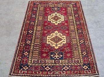 Teppich Cazak Aus Pakistan Rechteck 156 X 106 Cm Amazon De Kuche