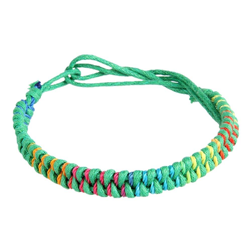 eaac269911e8a Amazon.com  Tibetan Buddhist Handmade Knots Lucky Rope Bracelet Rope Chain  Adjustable Size  Jewelry