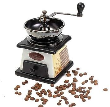 Manual De Molinillo De Café Retro Mini Vintage Coffee Bean Coffee Grinder Especias MáQuina De Molienda: Amazon.es: Deportes y aire libre