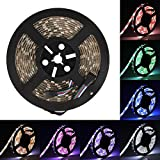 SUPERNIGHT 16.4ft 5050 300leds Waterproof RGBW LED Strip Flexible Light - Black Roll