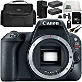 Canon EOS Rebel SL2 DSLR Camera (Body Only) 9 Accessory Bundle – Includes 32GB SD Memory Card + 2X Replacement Batteries + More - International Version (No Warranty)