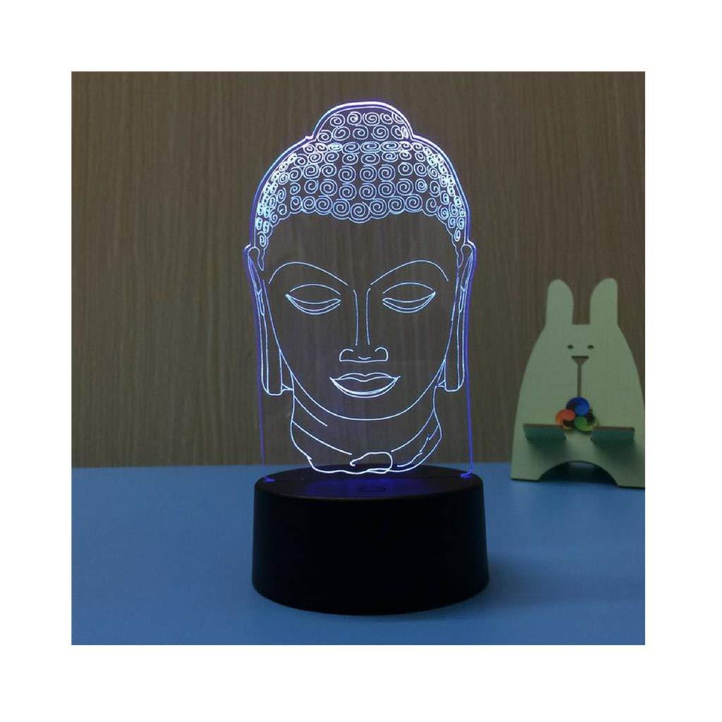 Luxury & Trendy Buddha 3D LED Night Light USB 7 Color Decoration Househould lamp Kids Night Light as Holidays & Birthdays Gift