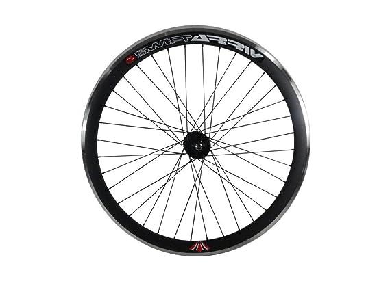 Deep V 43 mm rueda delantera para Fixie, Fixed Gear, vía, una sola velocidad bicicleta, negro: Amazon.es: Deportes y aire libre