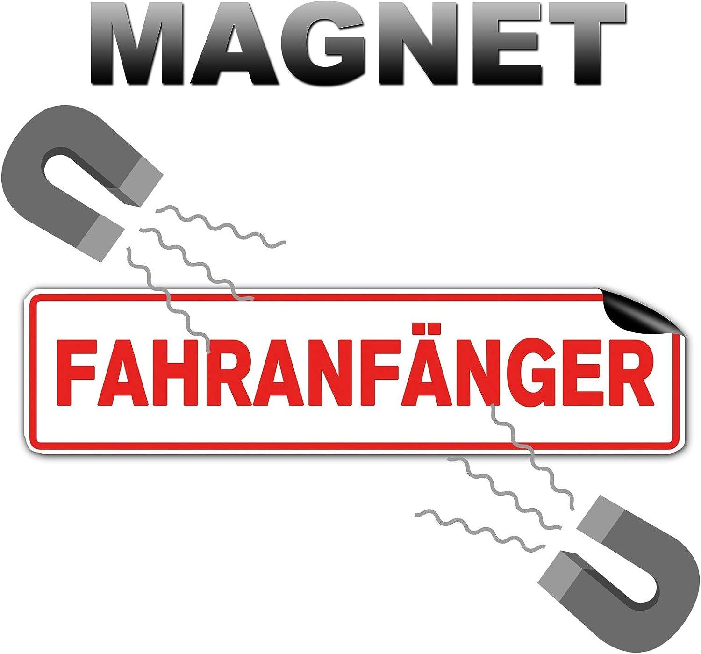 Strobo Fahranfänger Hochwertiges Magnetschild Als 32x8cm Magnetfolie Warntafel Schild Mit Uv Schutz Auto