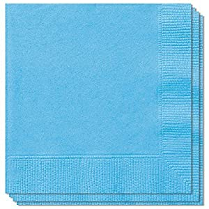 100 LUXURY 3 PLY LIGHT BLUE PAPER DINNER NAPKINS christenings parties 40cm x 40cm Ideal for weddings bbqs etc FREE DELIVERY