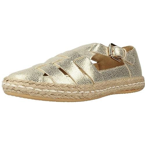 Alpargatas para Mujer, Color Gold, Marca GEOX, Modelo Alpargatas para Mujer GEOX D Modesty Gold: Amazon.es: Zapatos y complementos