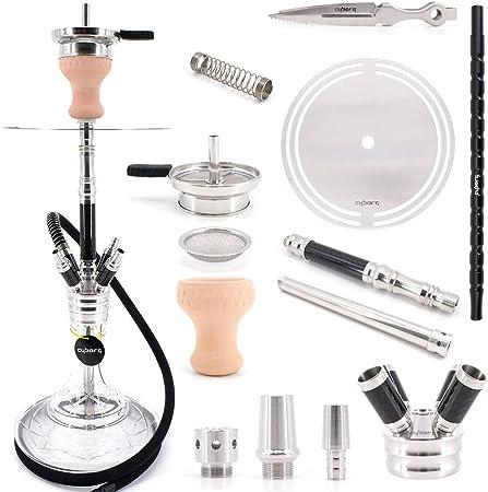 Super leicht und stabil Aluminium Mundst/ück f/ür Shisha Wasserpfeifen Cyborg Hookah/® Alumination Anthrazit 38 cm lang ca