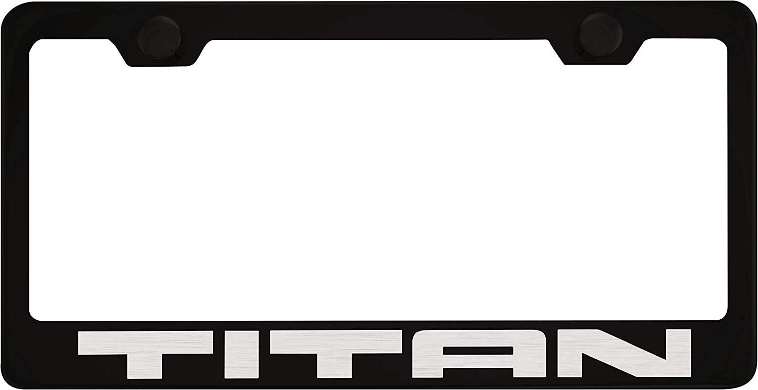 TITAN Stainless Steel Metal License Plate Frame Rust Free W// Bolt Caps