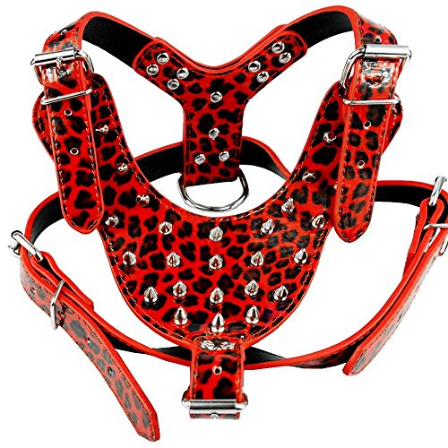 Benala Cool Spiked Studded Pu Leather Dog Harness 26