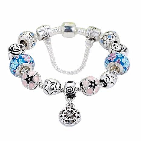 freebily pulsera charms cristal pulsera de abalorios mujer Bijoux Mode a colgante perlas Mujer Niñas en