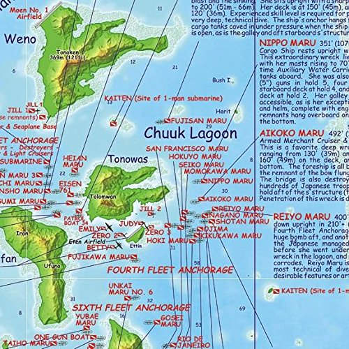 Chuuk Truk Lagoon Dive Amp Wreck Map Amp Operation Hailstone