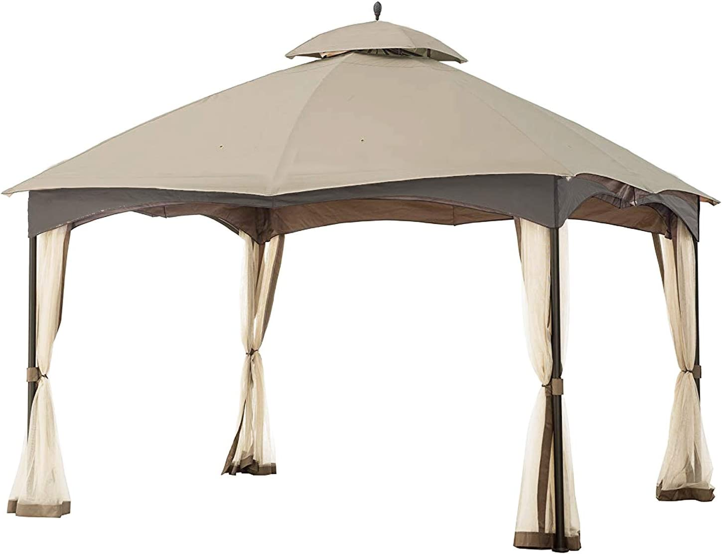 MASTERCANOPY Gazebo 12' x 10' Cabin-Style Soft Top Gazebo Top for Model L-GZ933PST, Beige (Only Top)