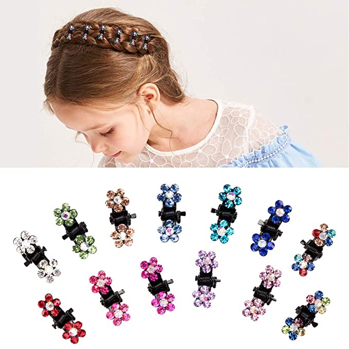 Pearl and Rhinestone Decorated Hair Clip Pin Claw Hair Accessories For W L2H5 5X