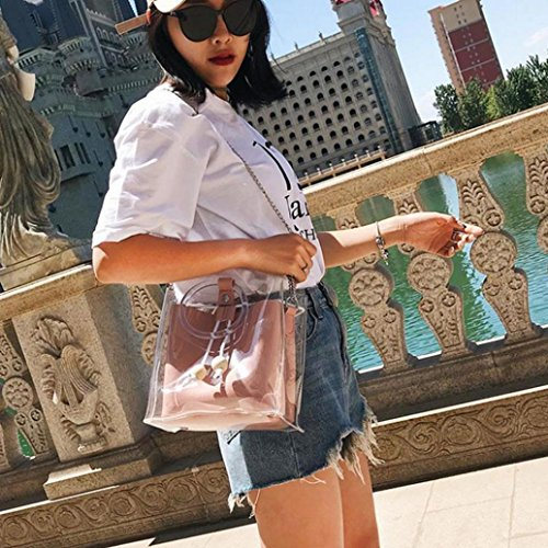 Cross Clutch Small Body Women's Wallet Wristlet Bags Shoulder Shoulder Pink Bags Crossbody Transparent Bag Handbag Clutch Women's 0xwq8X7O0