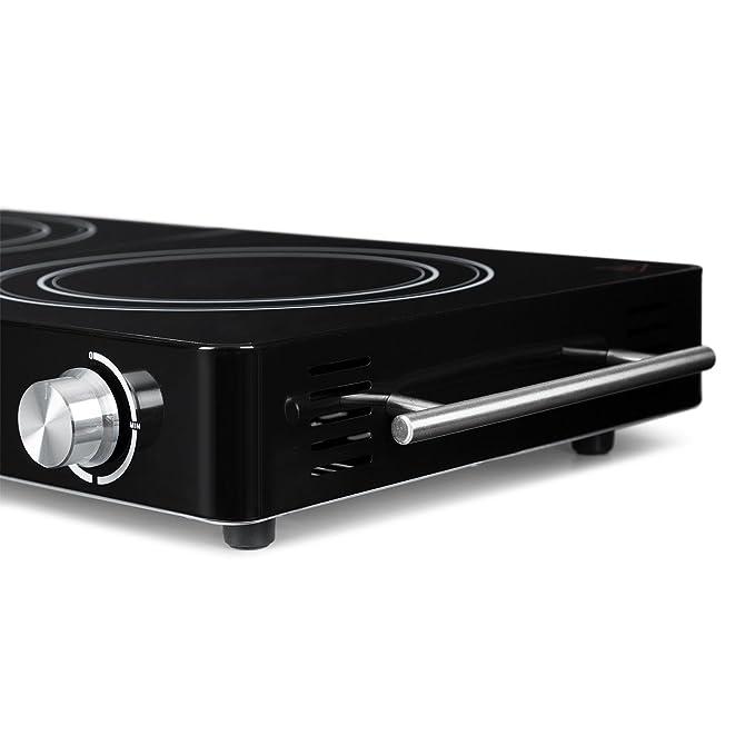 Klarstein VariCook Duo - Placa de cocina , Hornillo eléctrico , Cocina eléctrica , Potencia 3000W , Cocción por infrarrojos , Radiador halógeno , ...