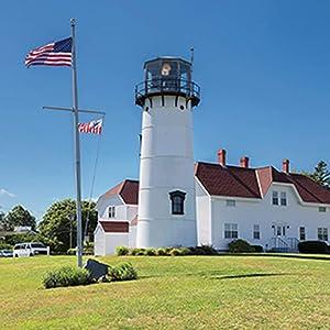 Carson Chatham Lighthouse Square House Coaster Set
